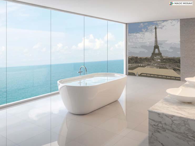 Mozaïque salle de bain